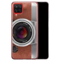 Samsung Galaxy A12 siliconen hoesje - Vintage camera
