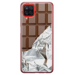 Leuke Telefoonhoesjes Samsung Galaxy A12 siliconen hoesje - Chocoladereep