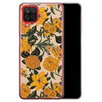 Samsung Galaxy A12 siliconen hoesje - Retro flowers