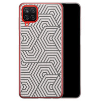 Samsung Galaxy A12 siliconen hoesje - Geometrisch