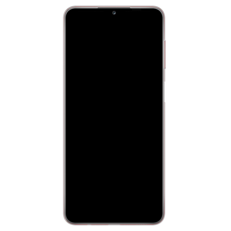 Samsung Galaxy A12 siliconen hoesje - Marmer zwart bruin