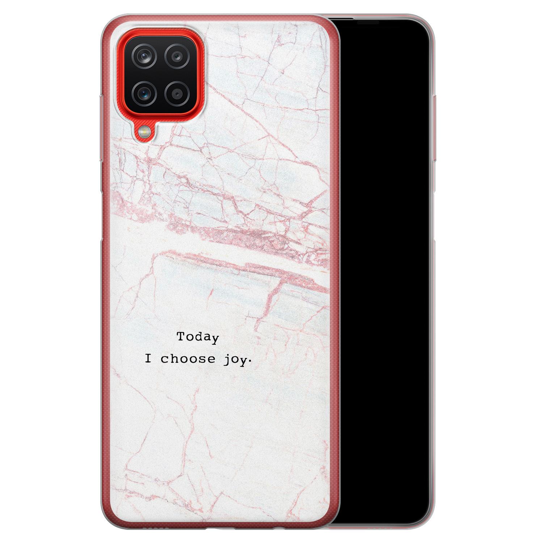 Samsung Galaxy A12 siliconen hoesje - Today I choose joy