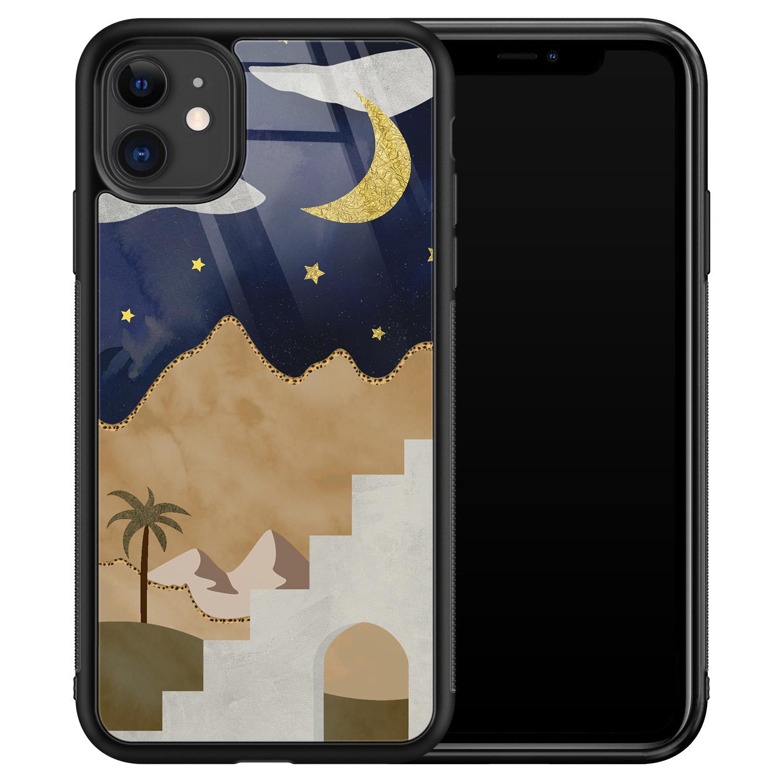 iPhone 11 glazen hardcase - Desert night
