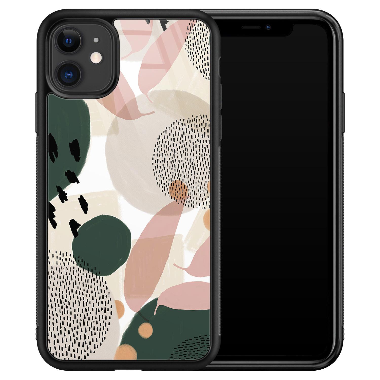 iPhone 11 glazen hardcase - Abstract print