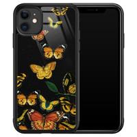 Leuke Telefoonhoesjes iPhone 11 glazen hardcase - Vlinders