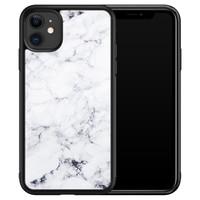 iPhone 11 glazen hardcase - Marmer grijs