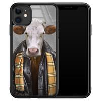 iPhone 11 glazen hardcase - Koe