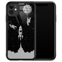 Leuke Telefoonhoesjes iPhone 11 glazen hardcase - Space shuttle