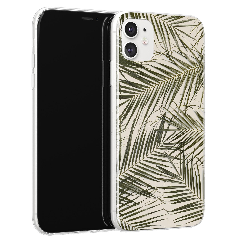 Leuke Telefoonhoesjes iPhone 11 siliconen hoesje - Leave me alone