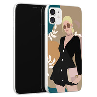 Leuke Telefoonhoesjes iPhone 11 siliconen hoesje - Abstract girl