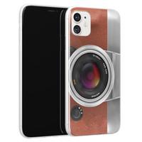 Leuke Telefoonhoesjes iPhone 11 siliconen hoesje - Vintage camera