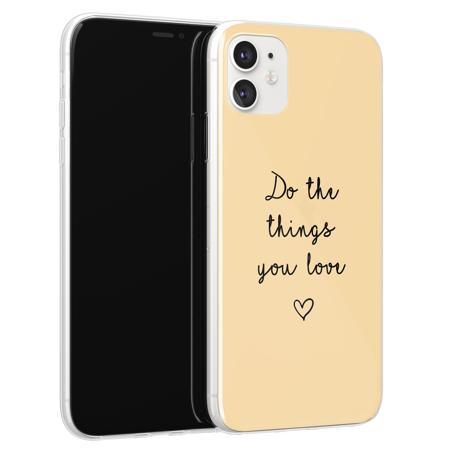 iPhone 11 siliconen hoesje - Do the things you love