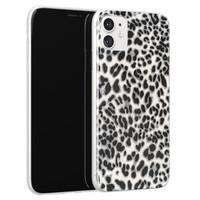 Leuke Telefoonhoesjes iPhone 11 siliconen hoesje - Luipaard grijs