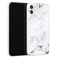 iPhone 11 siliconen hoesje - Marmer grijs