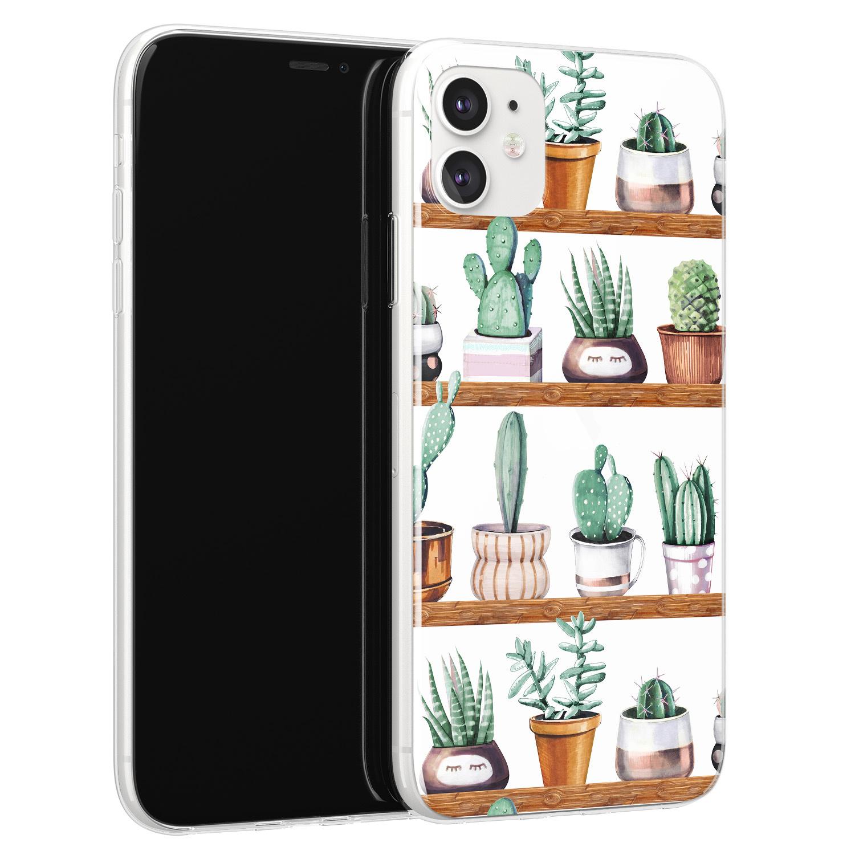 Leuke Telefoonhoesjes iPhone 11 siliconen hoesje - Cactus