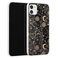 Leuke Telefoonhoesjes iPhone 11 siliconen hoesje - Sun, moon, stars
