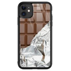 iPhone 11 glazen hardcase - Chocoladereep