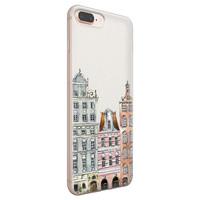 iPhone 8 Plus/7 Plus siliconen hoesje - Grachtenpandjes