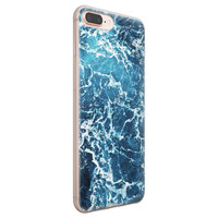 iPhone 8 Plus/7 Plus siliconen hoesje - Ocean blue