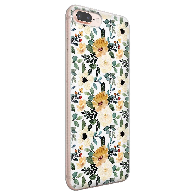 iPhone 8 Plus/7 Plus siliconen hoesje - Lovely flower