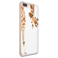 iPhone 8 Plus/7 Plus siliconen hoesje - Giraffe peekaboo