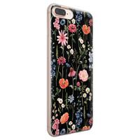 iPhone 8 Plus/7 Plus siliconen hoesje - Dark flowers