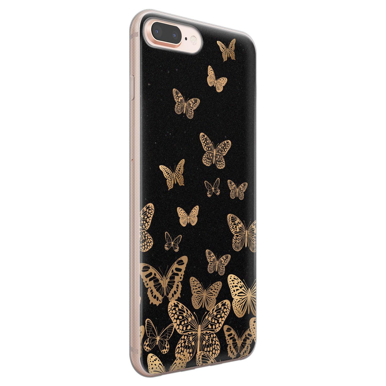 Leuke Telefoonhoesjes iPhone 8 Plus/7 Plus siliconen hoesje - Vlinders
