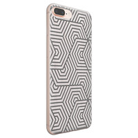 Leuke Telefoonhoesjes iPhone 8 Plus/7 Plus siliconen hoesje - Geometrisch
