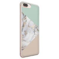 iPhone 8 Plus/7 Plus siliconen hoesje - Marmer pastel mix