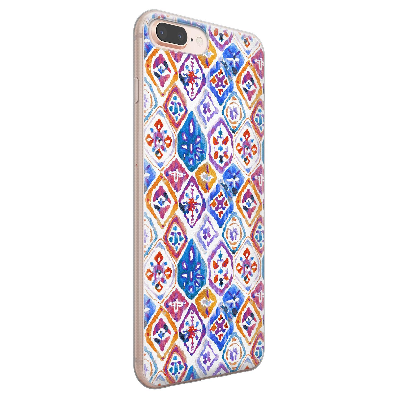 iPhone 8 Plus/7 Plus siliconen hoesje - Boho vibe