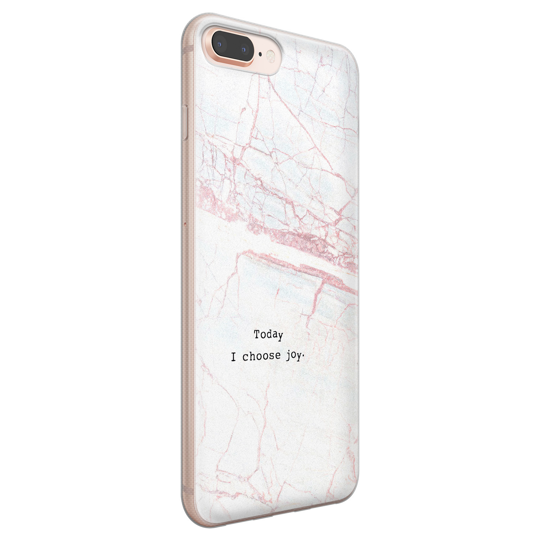 iPhone 8 Plus/7 Plus siliconen hoesje - Today I choose joy