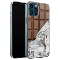 Leuke Telefoonhoesjes iPhone 12 Pro siliconen hoesje - Chocoladereep