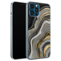iPhone 12 Pro siliconen hoesje - Golden agate
