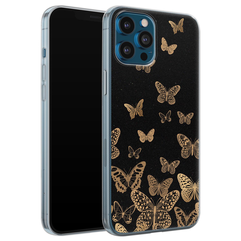 iPhone 12 Pro siliconen hoesje - Vlinders