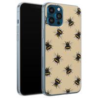 iPhone 12 Pro siliconen hoesje - Bee happy