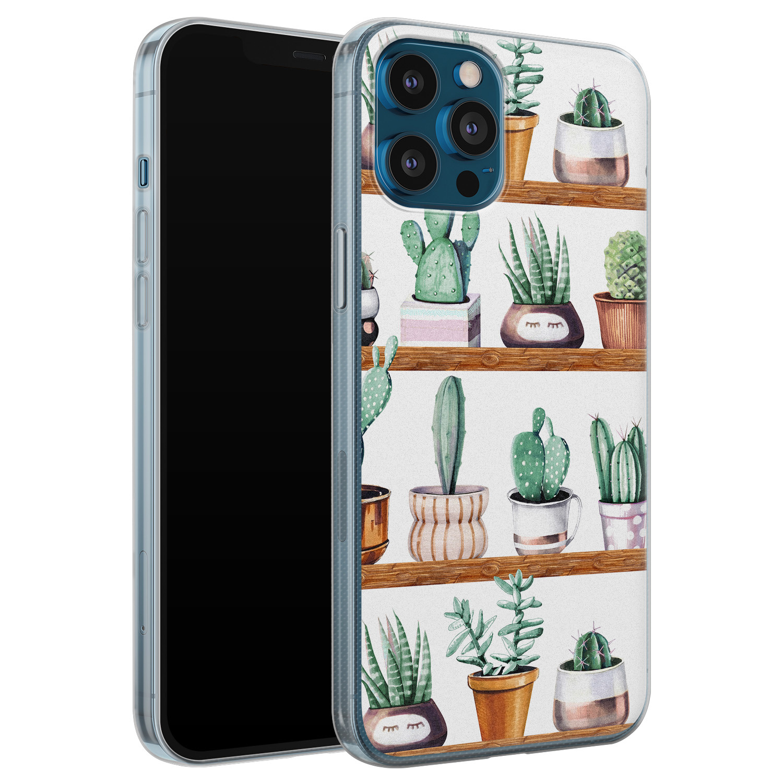 iPhone 12 Pro siliconen hoesje - Cactus
