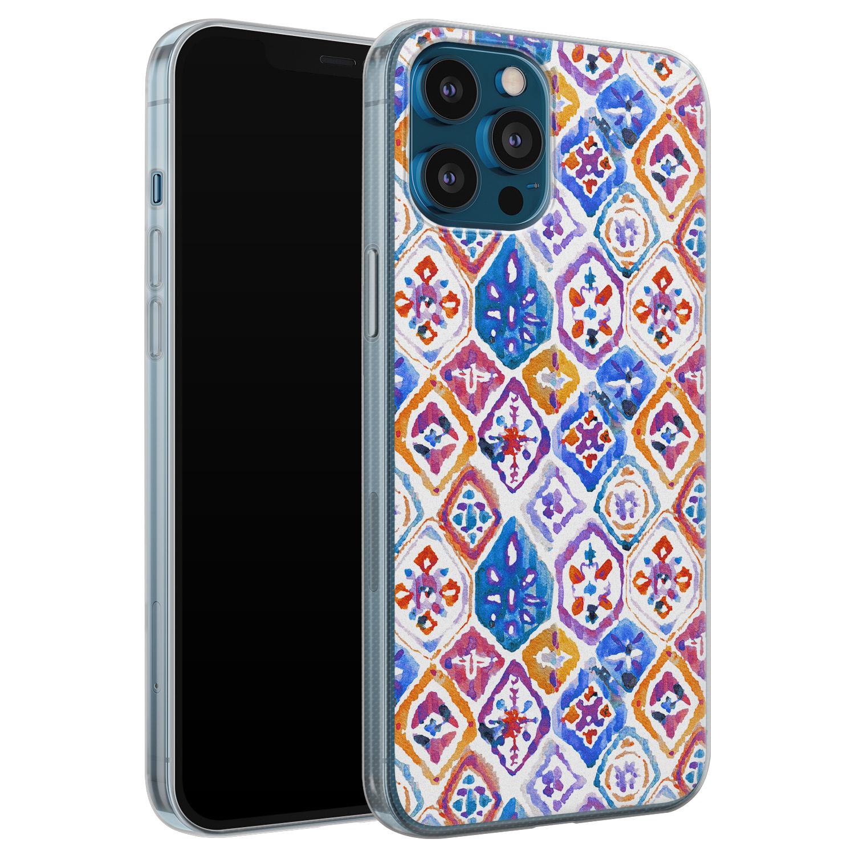 Leuke Telefoonhoesjes iPhone 12 Pro siliconen hoesje - Boho vibe
