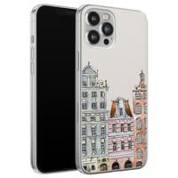 iPhone 12 Pro Max siliconen hoesje - Grachtenpandjes