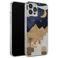 Leuke Telefoonhoesjes iPhone 12 Pro Max siliconen hoesje - Desert night