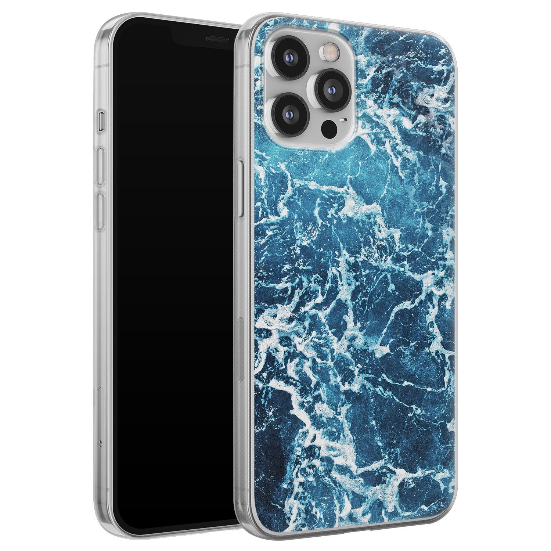 iPhone 12 Pro Max siliconen hoesje - Ocean blue