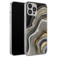 iPhone 12 Pro Max siliconen hoesje - Golden agate
