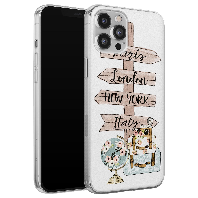 Leuke Telefoonhoesjes iPhone 12 Pro Max siliconen hoesje - Where to go next
