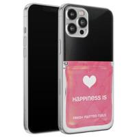 Leuke Telefoonhoesjes iPhone 12 Pro Max siliconen hoesje - Nagellak