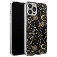 iPhone 12 Pro Max siliconen hoesje - Sun, moon, stars