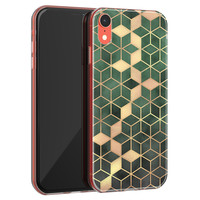 iPhone XR siliconen hoesje - Green cubes