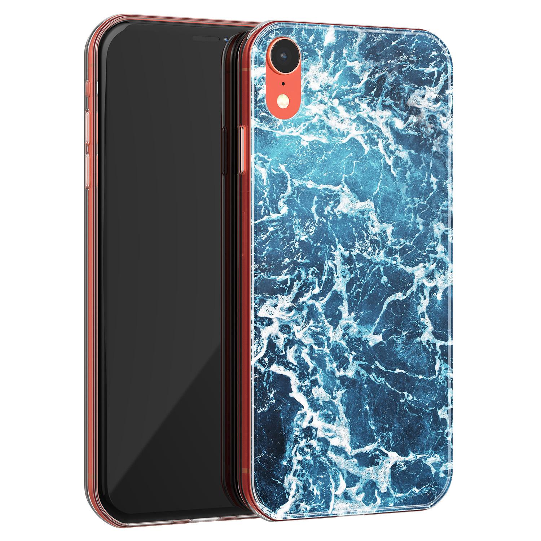 iPhone XR siliconen hoesje - Ocean blue