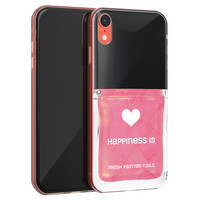 Leuke Telefoonhoesjes iPhone XR siliconen hoesje - Nagellak