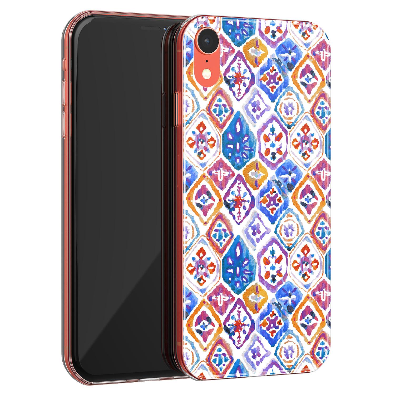 Leuke Telefoonhoesjes iPhone XR siliconen hoesje - Boho vibe