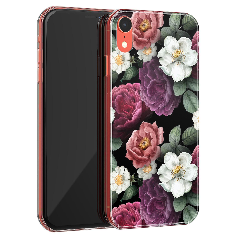 iPhone XR siliconen hoesje - Bloemenliefde