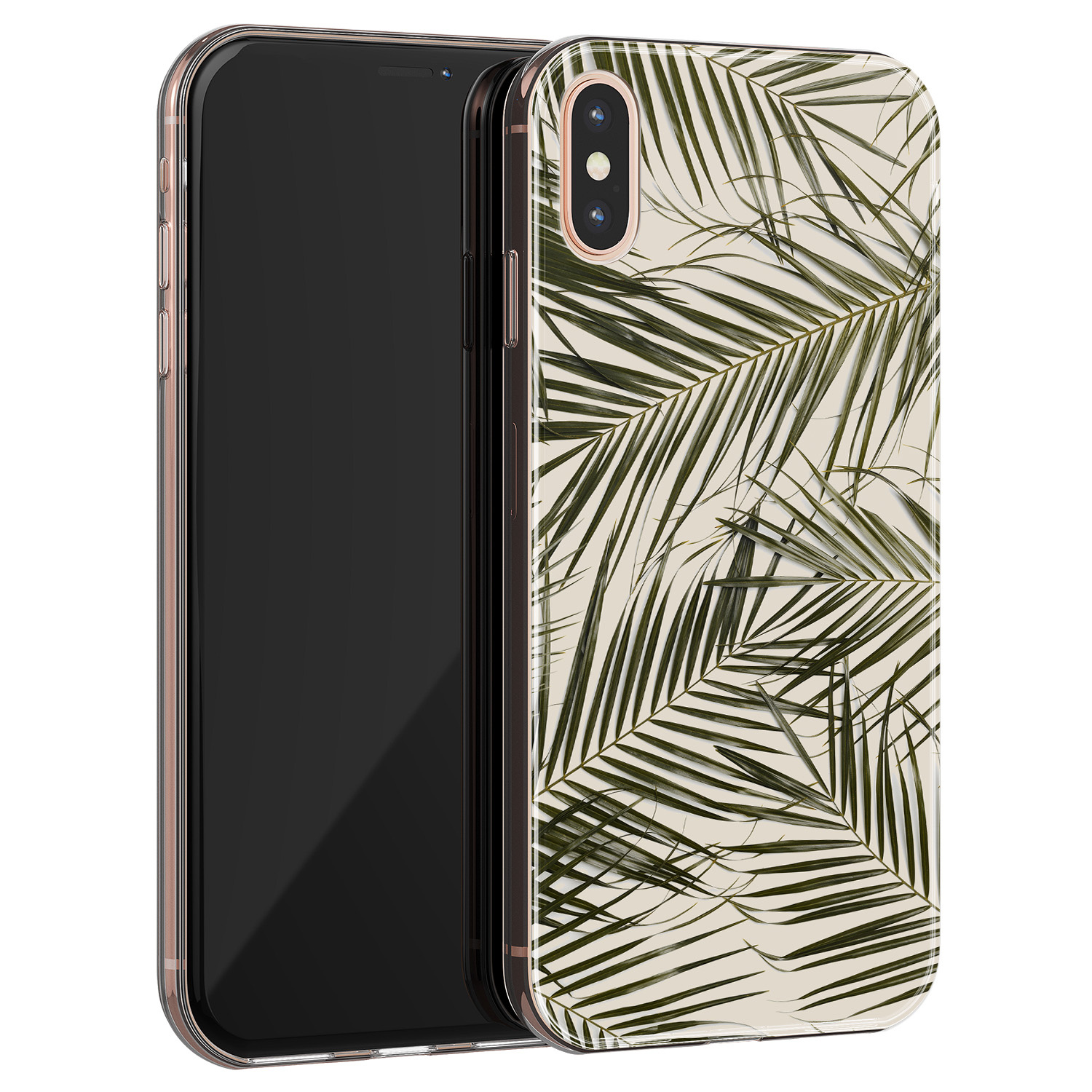 iPhone X/XS siliconen hoesje - Leave me alone
